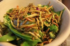 Stir-Fried Broccoli Slaw Recipe- So simple and delicious!! Sub brown sugar for low carb.
