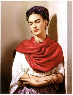 Nickolas Muray, Frida Kahlo, 1939. Famous Mexican artist, wife of Diego Rivera. An icon.                                                                                                                                                     Plus