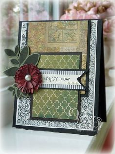Card by Andrea Ewen using Verve Stamps.