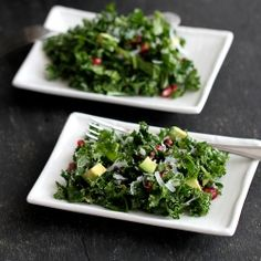 Chopped Kale Salad with Pomegranate & Avocado - One of my all-time favorite salads.