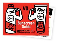 "Learn which sunscreen is right for your family with Environmental Working Group's ""Toxic vs. Epic Sunscreen Guide"""