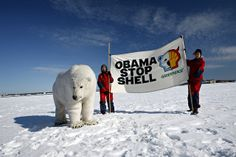 Paula the Polar Bear in Helsinki by Greenpeacesuomi. Oil companies are paying big money to spy on activists.