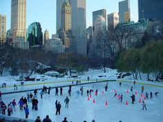 ice rink at wintertime in CP