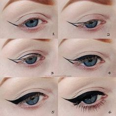 Tutorial for winged eyeliner