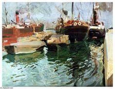 Puerto de Valencia (1908), 1908 by Joaquin Sorolla Y Bastida (1863-1923, Spain)