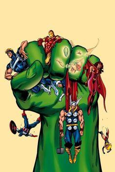 Hulk & Avengers by Alan Davis