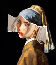 Girl with a Pearl Earring Collage Billie Eilish (Fail .- Mädchen mit einer Perlen-Earring-Collage Billie Eilish (FailunFailunMefailun) Girl with a Pearl Earring Collage Billie Eilish Billie Eilish, Aesthetic Iphone Wallpaper, Aesthetic Wallpapers, Artistic Wallpaper, Photomontage, Art Du Collage, Art Collages, Collage Ideas, Love Collage