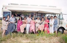 Not my thing but fun: A food-truck wedding.  Beautiful photography and vintage touches