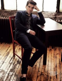 Zachary Quinto is the leading man for  '' Sexy Serial Killer '' Magazine. (And yes this is a joke!)