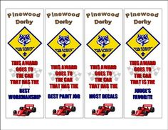 Pinewood Derby Awards