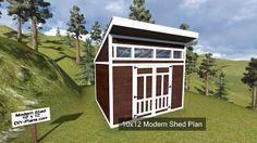 10x12 Modern Shed Plan.  http://www.DIY-Plans.com