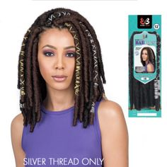 12 Bae Locs Silver Accent Crochet Braid Hair By Bobbi Boss