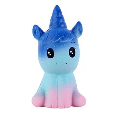 """AmazonSmile: Anboor 4.9"""" Squishies Unicorn Galaxy Kawaii Soft Slow Rising Scented Animal Squishies Stress Relief Kids Toys: Toys & Games"""