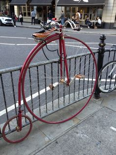 Penny farthing bicycle on Sloane Square, London.