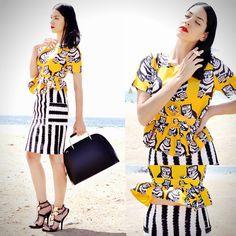 Choies Twin Set, Ring, Zara Bag, Choies Sandals
