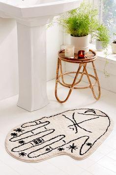 Urban Outfitters Palmistry Bath Mat - Neutral One Size Boho Bathroom, Bathroom Rugs, Bath Rugs, Modern Bathroom, Small Bathroom, Bathroom Ideas, Bathroom Inspiration, Bathroom Trends, Bathroom Inspo