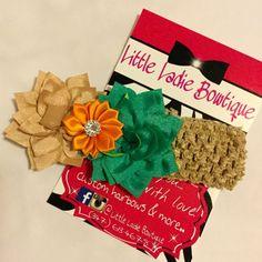 Flower Headband by littleladiebowtiquee on Etsy