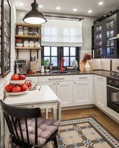 Interior design kitchen l shape and kitchen design zen type. Living Room Kitchen, Living Room Modern, Kitchen Dining, Kitchen Decor, Le Logis, Sweet Home, Kitchen Flooring, Kitchen Ceilings, Interior Design Kitchen
