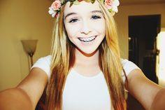 When she had braces