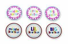 Sibling Stickers by Mud Pie - perfect for the new older brothers and sisters in the family.