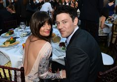 Lea Michele & Cory Monteith cozying up to each other at Chrysalis Butterfly Ball 2012   Chrysalis Butterfly Ball 2012