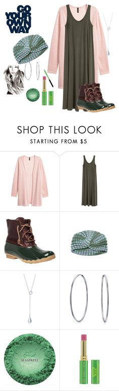 """""""Duckboots"""" by chauert on Polyvore featuring H&M, Sperry, Missoni, Bling Jewelry, Too Late, Tata Harper and Maybelline"""