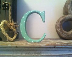 Freistehende hölzerne Hochzeit Buchstaben 'C' - 25cm - Georgien-Style Font