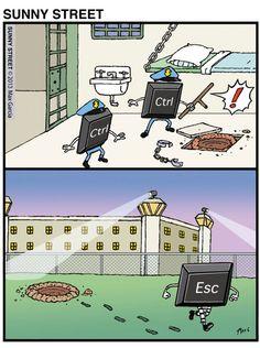 Control y escape. #humor #risa #graciosas #chistosas #divertidas