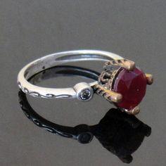 Ottoman Style Designer Ruby Turkish Jewelry Ring 925K Sterling Silver   eBay