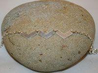 Bracelet chevrons argentés