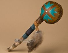 Native American Navajo Indian Rawhide Shaker