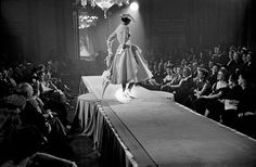 "frenchvintagegallery: ""    Fashion Show - Haute Couture Collections, Paris, 1951 by Frank Horvat """