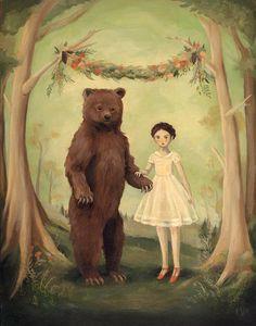 En la primavera, se casó con un oso / gran impresión 11 x 14