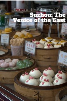 Suzhou, Jiangsu in China is called the Venice of the East. An old Chinese proverb says that it's paradise on earth. Discover more by clicking through on the pin.