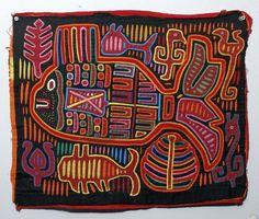 Superb Panamanian Textile Mola - Vibrant!