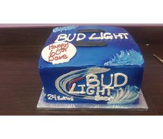 Case of Bud Light Beer Birthday and Groom's Cake