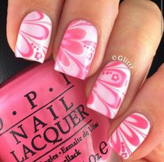Coral and Pink Marble #nails #nailart IG@glittr