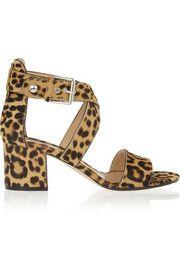 Gianvito RossiLeopard-print calf hair sandals  | SS 2014 | cynthia reccord