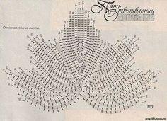 Hoja crochet diagrama