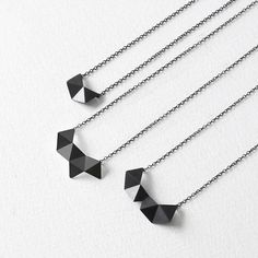 Geometric Chain Necklace Sterling Silver Chain Necklace