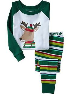 Deer-Graphic PJ Sets for Baby | Old Navy