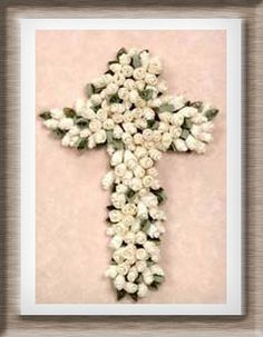 $5.73Everything is coming up roses!  Elegant white roses and pale green leaves are all it takes to make this beautiful Easter Cross.