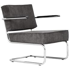 Ridge Lounge Rib loungestoel met armleuningen   Zuiver
