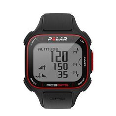 Polar RC3 GPS Fitness Watch and Activity Tracker with Heart Rate Monitor Black. RC3 GPS New from Polar, their first integrated GPS Watch! This watch is ideal for both runners and cyclists! In addition to providing distance/speed and providing time, date, etc. The watch includes Polar's Training Benefit Feature. This feature bases performance on the Polar Sport Zones and will provide you with instant feedback that summarizes your training. The feature reads how much time you spend working…