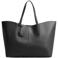 MANGO Faux-Leather Shopper Bag (€47) ❤ liked on Polyvore featuring bags, handbags, tote bags, faux leather handbags, faux leather tote bag, shopper tote, metallic handbags and vegan purses