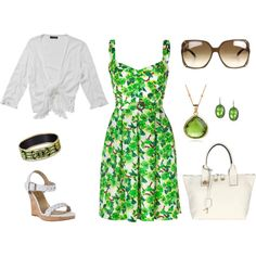 Green and white....