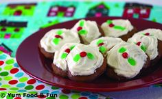 Ginger Creams with Snowy Frosting by YUM Food and FUN Magazine. Can you spot the Funkin??     Funkins are bright, reusable cloth napkins made especially for kids. They are ideal for lunch boxes, and are perfect for meal and snack time at home, and on the go! http://www.myfunkins.com/