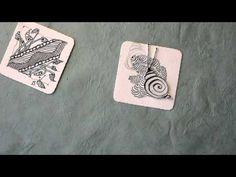 Video of zentangles by Bijou the snail, calm and relaxing to watch