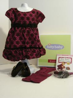 American Girl Bitty Baby Sweet Snowflake Outfit Book New in Box Retired Ag Dolls, Girl Dolls, Bitty Baby, Doll Stuff, New Books, American Girl, Summer Dresses, Best Deals, Box