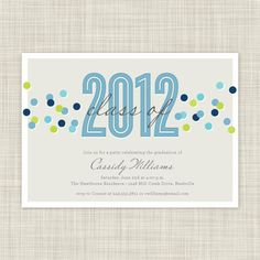 Graduation Party Invitations - Graduation Invites - Printable Party Invites. $18.00, via Etsy.
